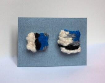 Set of 2 woven pins handmade