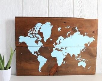 Wooden World Map Wall Art reclaimed world map world map decor wood world map wall