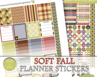Fall Autumn Printable Planner Stickers, Fall Erin Condren Sticker Kit, November Planner Stickers, Fall Stickers Erin Condren Weekly Kit