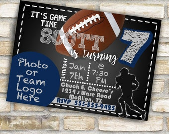 Cowboy color theme birthday party invitations for boy or girl Dallas football any age with or without picture digital download