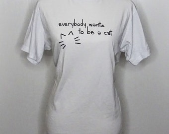 Aristocats, 'Everybody Wants to be a Cat' inspired t-shirt