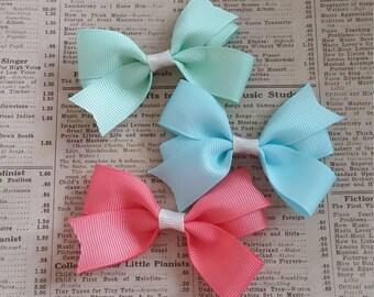 SALE Beautiful Spring Hair Bows, girls hair bows, toddler hair bows, hair bow favors, party favors, spring hair, cute hair bows, loot bag