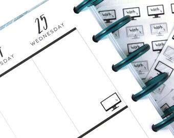 Computer Work Design Planner Stickers