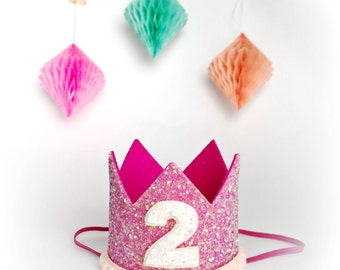 Pet Birthday Crown Hat || Animal Party Hat || Cat Kitty Puppy Pig Birthday Crown Hat || Dog Clothes || Add Any Number