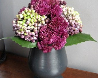 Magenta for a Corner - Faux Floral Arrangement - Bathroom Decor - Bedroom  Arrangement - floral gift - hostess gift