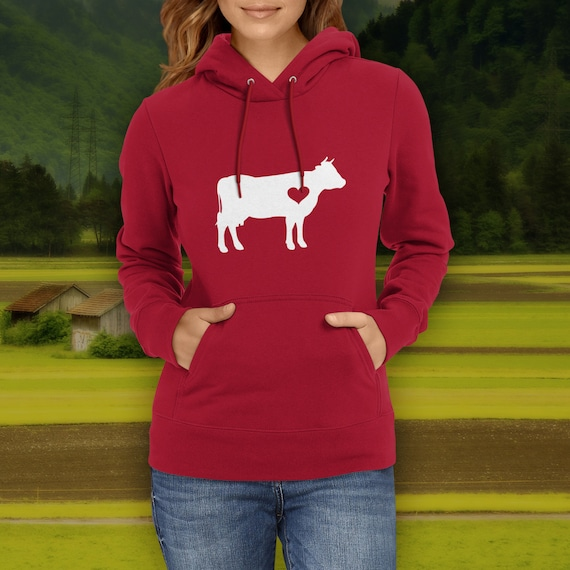 Hug your Cow hoodie / Cow hoody / Cow Lover / bovine gift / cow gift  / heifer clothing / barn birthday party / cow sweater / farm hoodie