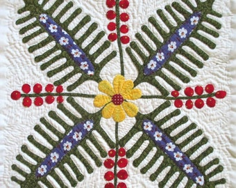 Fern and Berry Quilt Block Pattern for Nature's Bounty Quilt