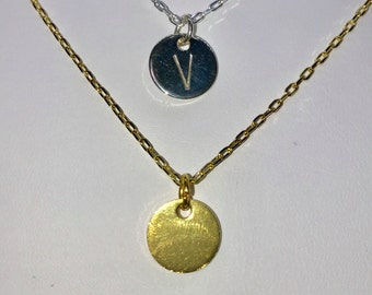 10mm Circle Stamped Necklace