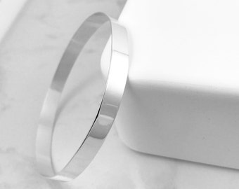 Sterling Silver Bangle | Wide Silver Bracelet | Wide Bracelet | Simple silver Bracelet | Classic traditional silver bracelet | Simple bangle