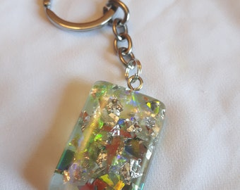 Large resin keychain
