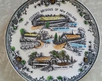 Covered Bridges of New England Souvenir Plate