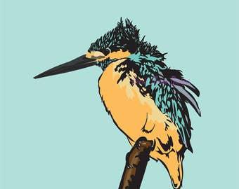 8x 10 'Kingfisher' Art Print