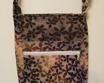 Crossbody Bag - brown floral
