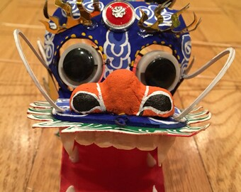 Chinese Dragon, Chinese New Year, Lion, Puppet, Asian Puppet, Chinese, Fire Breathing, Artistic Dragon, Animal Toy, Paper Animal, Wooden