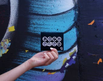 Paper Wallet - Black - Planets