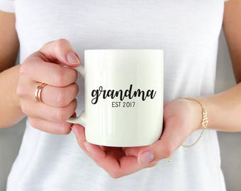 Grandma Mothers Day Gift - Grandma Mug - Grandma Gift - Gifts for Grandma - Pregnancy Announcement Mug - New Grandma Gift - Grandparent Mugs