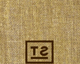 Personalized Burlap-look Paper Guest Towels, Monogrammed, Custom, Party, Dinner