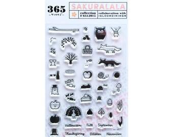 Aki Clear Planner Stamps - Sakuralala