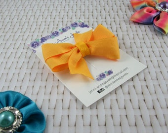 Pinwheel Hair Bow Clip - Oranges
