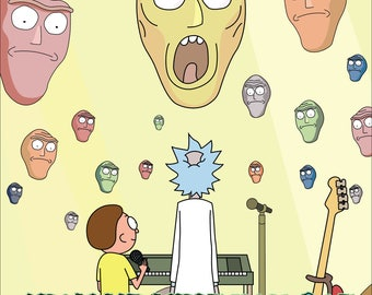 Rick and Morty 'Show Me What You Got'  Square Print // Rick and Morty Wall Art // Rick and Morty Decor