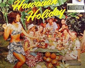 Hawaiian Holiday by Leni Okehu and his Surfboarders - Vintage LP Record