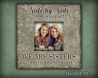 SIS/SIDE: Photo Frame, Gift For Sister, Frame For Sister, Home Decor, Christmas Gift, Birthday Gift, Photo Frame For Sister, Home and Living