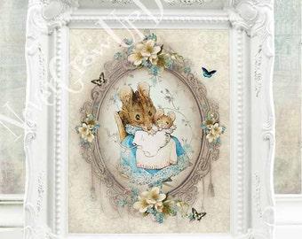 Peter Rabbit Nursery Decor Beatrix Potter Nursery Tales of Peter Rabbit Wall Decor Beatrix Potter Decor Baby Girl Room Decor New Baby  C:B5