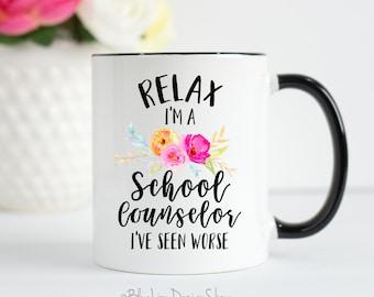 School Counselor Mug, School Counselor Gift, School Counselor, Gift for School Counselor, Therapy Mug, Guidance Counselor Gift, Counselor