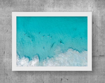 Surfs Up Print, Wall Art, Digital Print, Printable Download, Drone, Photo, Home Decor, Ocean, Digital Download, Aerial, Costal, Beach,Poster
