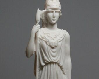 Greek Roman Goddess Athena Minerva Alabaster Statue Figure Sculpture 7.48in - 19cm **Free Ship - Free tracking Number**