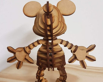 3D Mickey Mouse Puzzle Figure