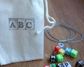 Child's Alphabet Bracelet Kit