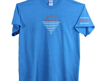 ktsv SALE! mens design heather light blue T-shirt