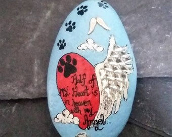 Pet memorial stone, loss of pet memorial ornament,indoor or outdoor memorial keepsakes, sympathy/remembrance gifts.