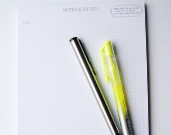 A5 Square print Notepad / To Do List / Desk Pad / Daily Planner