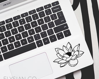 Lotus Flower Decal, Vinyl Decal, Laptop Decal, Macbook Decal, Car Decal, iPad Decal