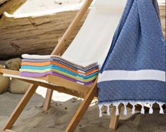 Diamond Pestemal Turkish Towel, Beach Towel, Bath Towel, Travel Towel, 100% Cotton