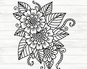 Mandala Decal - Flower Decal - Flower Sticker  - Mandala Sticker - Flower Car Decal - Mandala Laptop Sticker - Flower Laptop Sticker