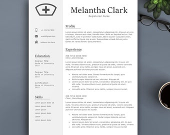 Professional Nurse Resume Template for Pages & MS Word. Complete 1,2,3 Pages Resume Template. Editable CV template for Everyone. Creative CV