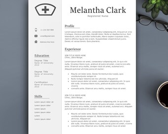 professional nurse resume template for pages ms word complete 123 - Professional Nurse Resume Template