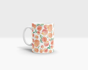 Peaches Mug. 11oz Ceramic Mug.
