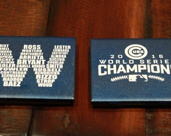 Chicago Cubs Coasters (World Series Logo / W Roster)
