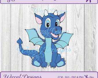 Dragon svg, Baby boy svg, Blue dragon svg, nursery svg, Boy svg,  animals svg, Dragon dxf, svg files for cricut, Fantasy svg, dxf cut file