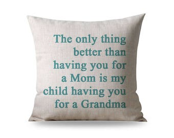 Mothers Day Gift for Grandma, Grandma Pillow, Birthday Gift for Grandma, Unique Grandma Gift, Grandma Gift, Grandmother Gift