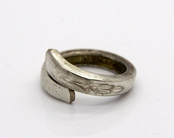 Spoon Ring - Size 5 - Hand Bent By The CrafsMan - Steady Craftin'