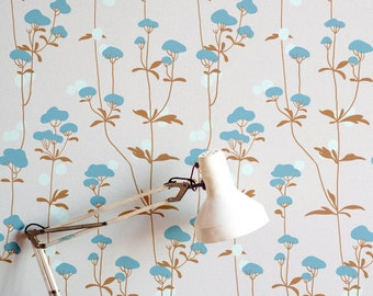 "Vegetal wallpaper ""Coton"""