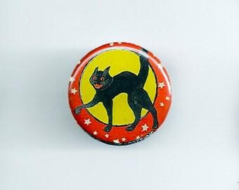 Halloween Kitten Pinback Button