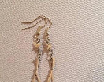 2-Mouse-Bone Earrings