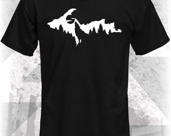 UP Wolf - Upper Peninsula Wolf Shirt - Black Wolf Yooper Tshirt