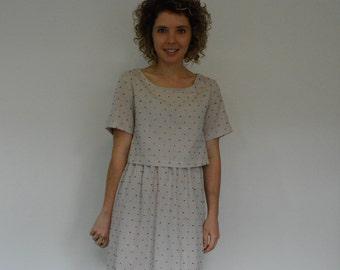 Two piece dress  PDF sewing pattern
